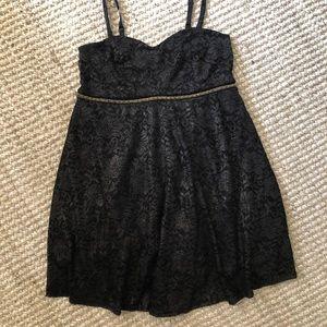Torrid black lace dress size 20 NWT